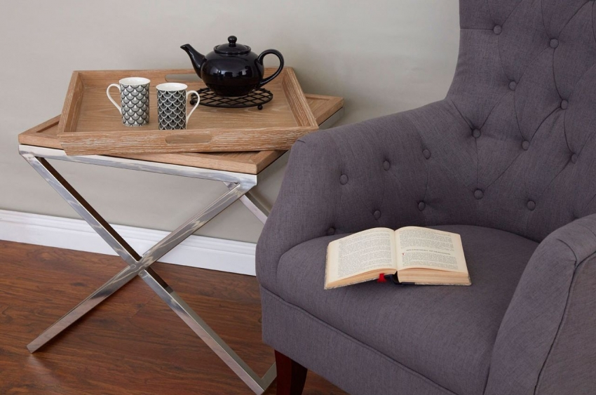 Mayfair Grey Linen Fabric Armchair