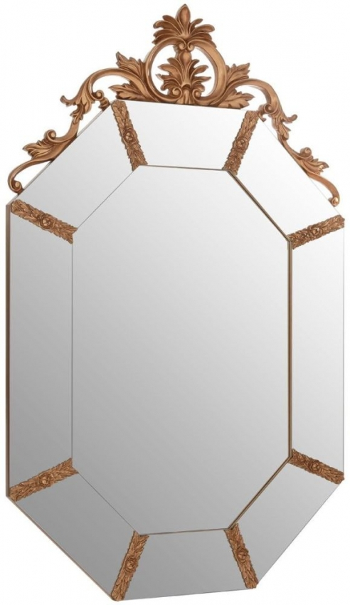 Gold Resin Frame Wall Mirror