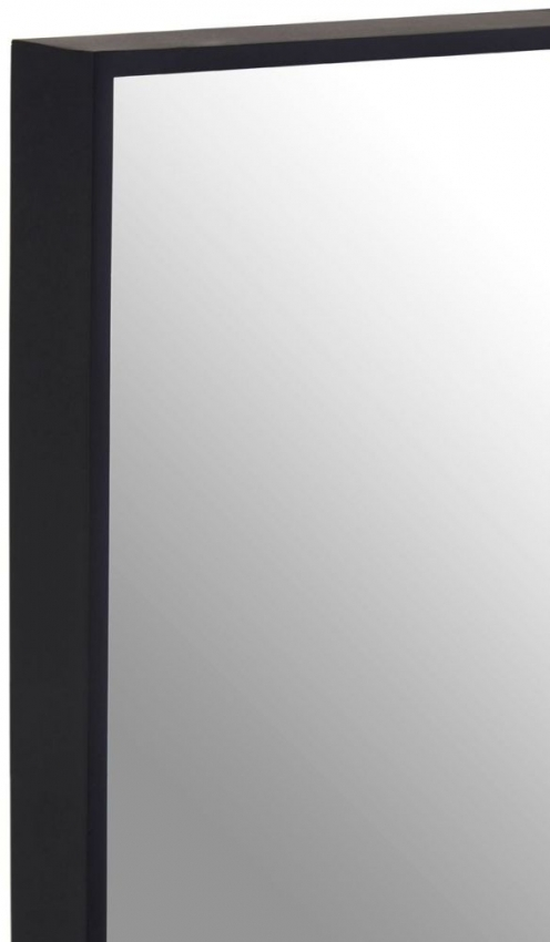 Matt Black Square Wall Mirror - 32cm x 32cm