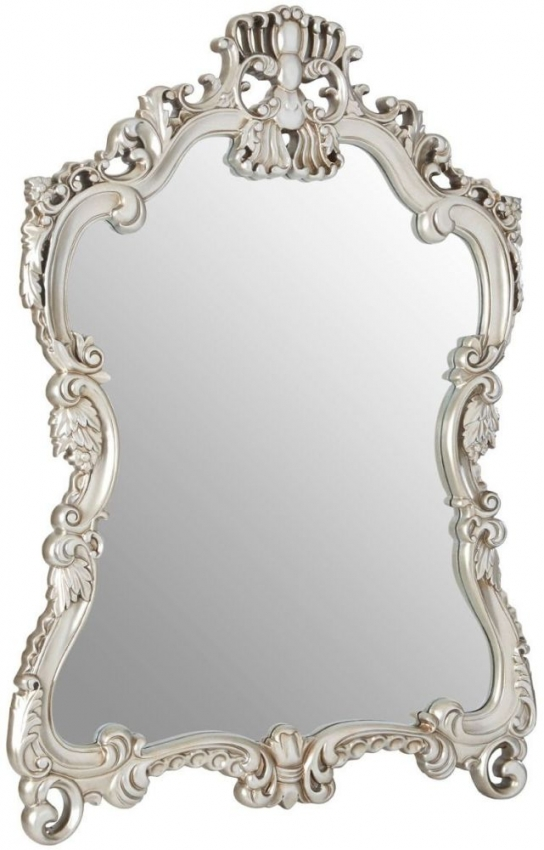 Champagne Decorative Swirl Design Wall Mirror