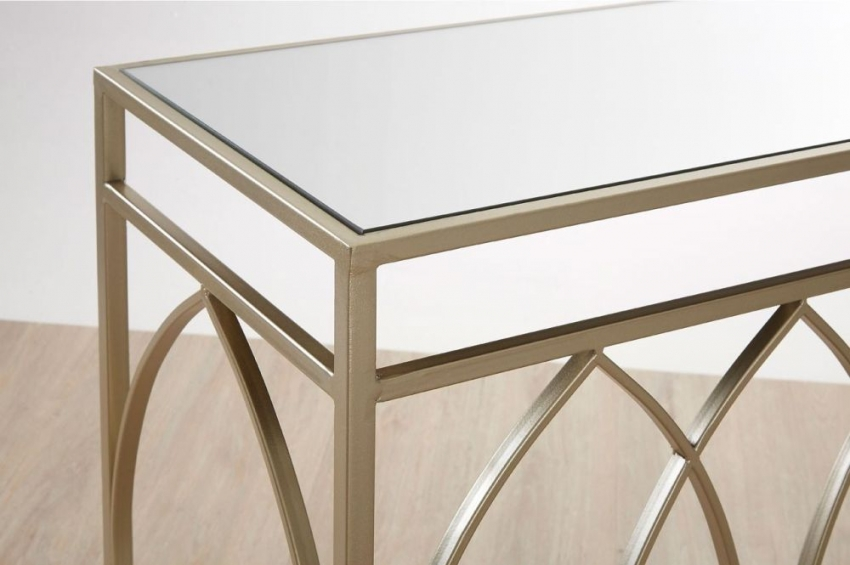 Avantis Gold Console Table