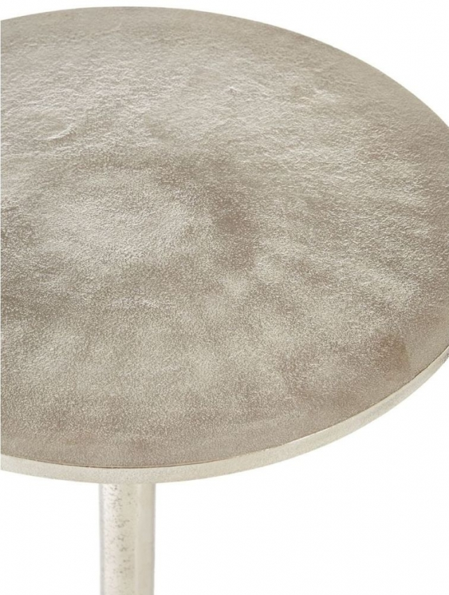 Halle Silver Round Side Table
