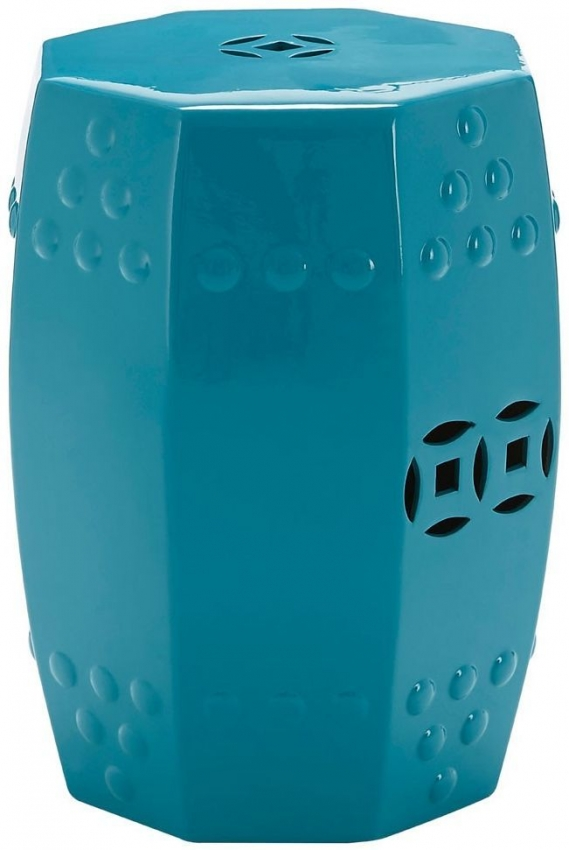 Complements Teal Ceramic Side Table
