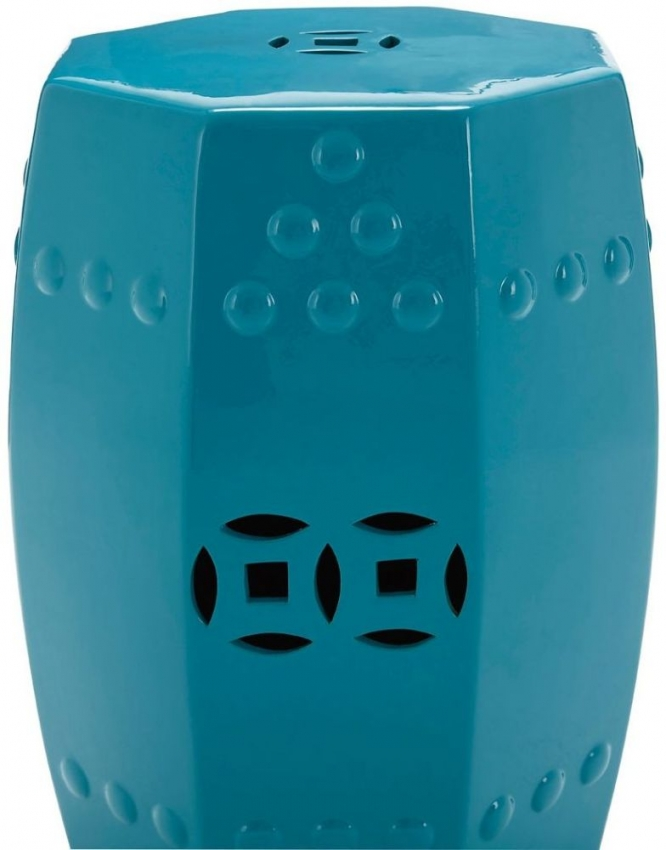 Complements Teal Ceramic Stool