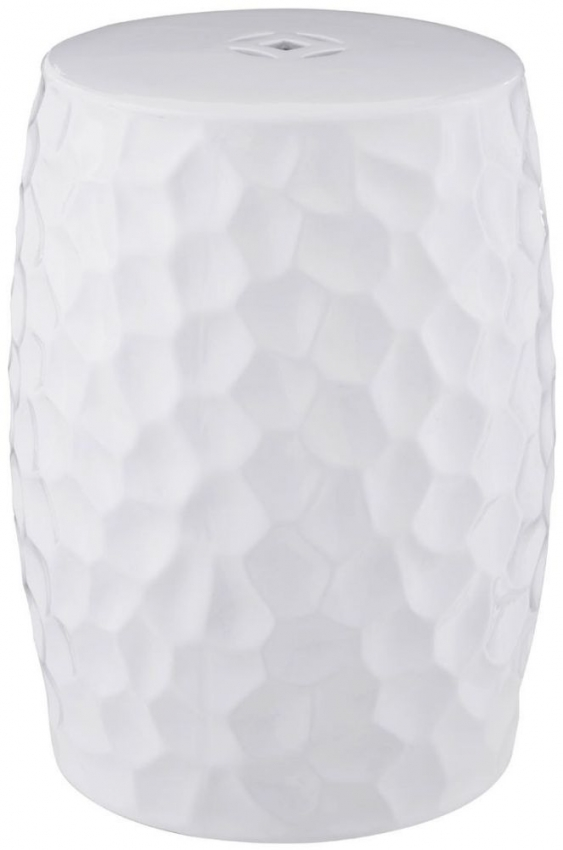 Complements White Ceramic Side Table