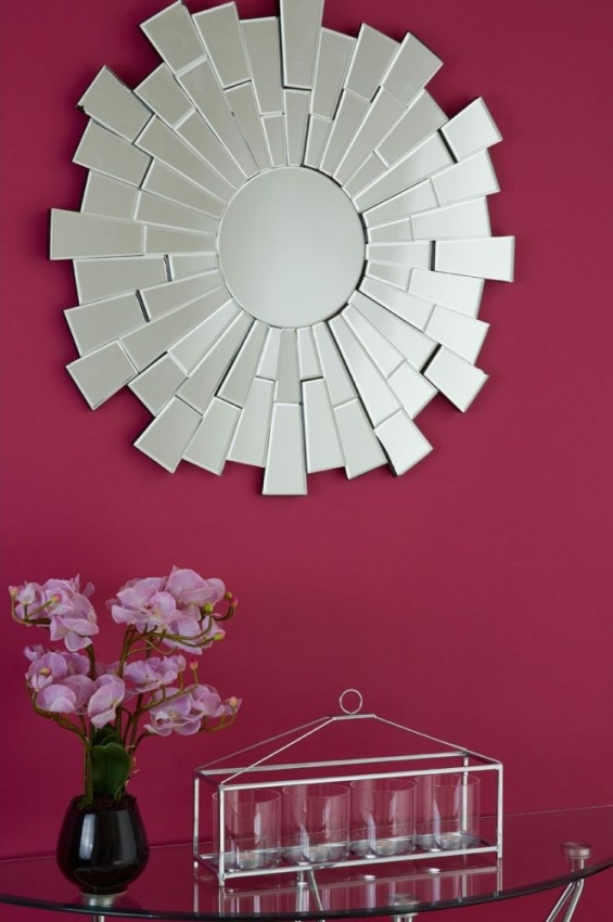 Glass Round Wall Mirror