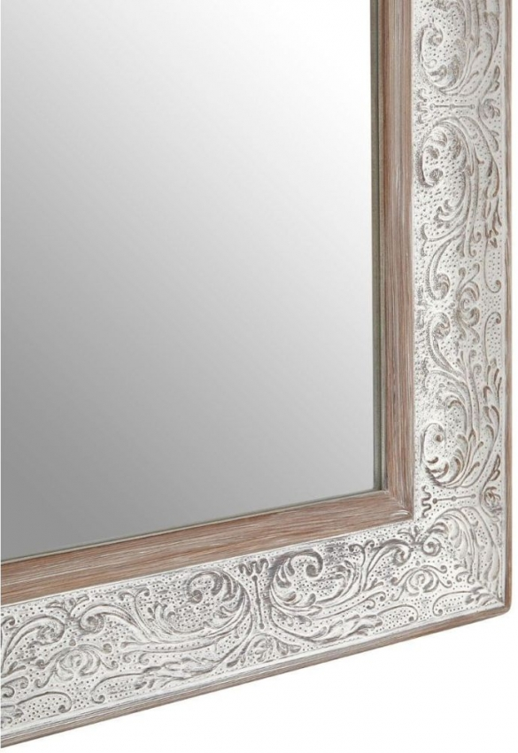 Antique Silver Rectangular Wall Mirror