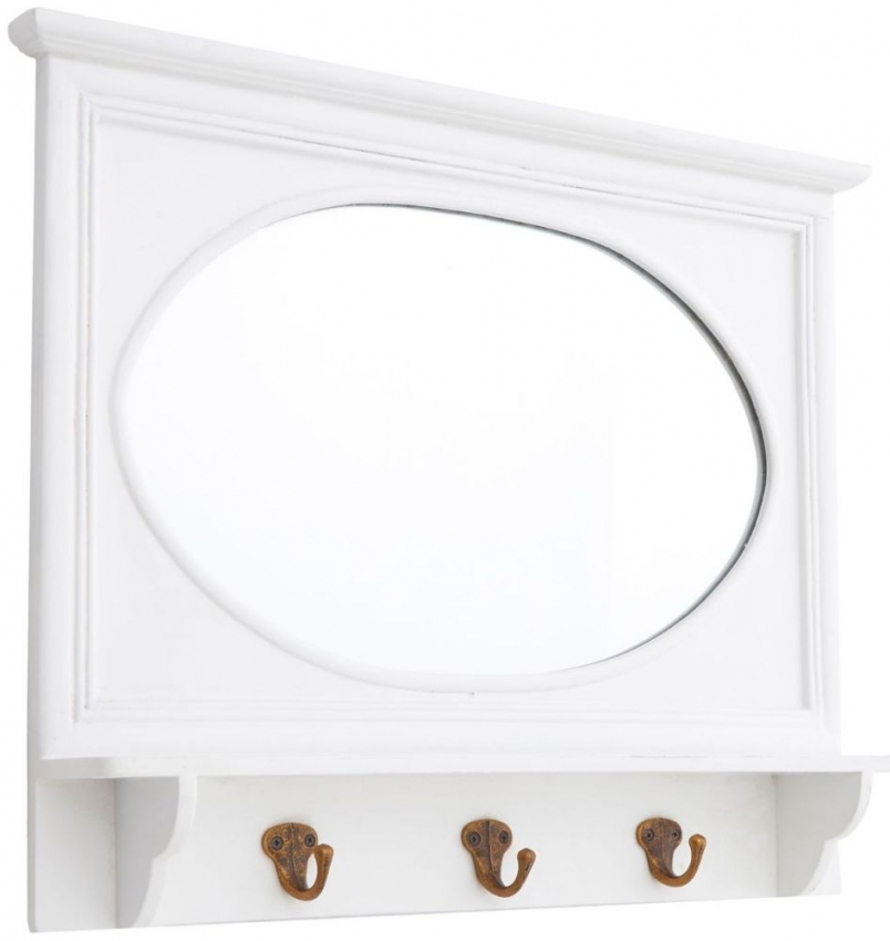 Whitley White Oval Wall Mirror