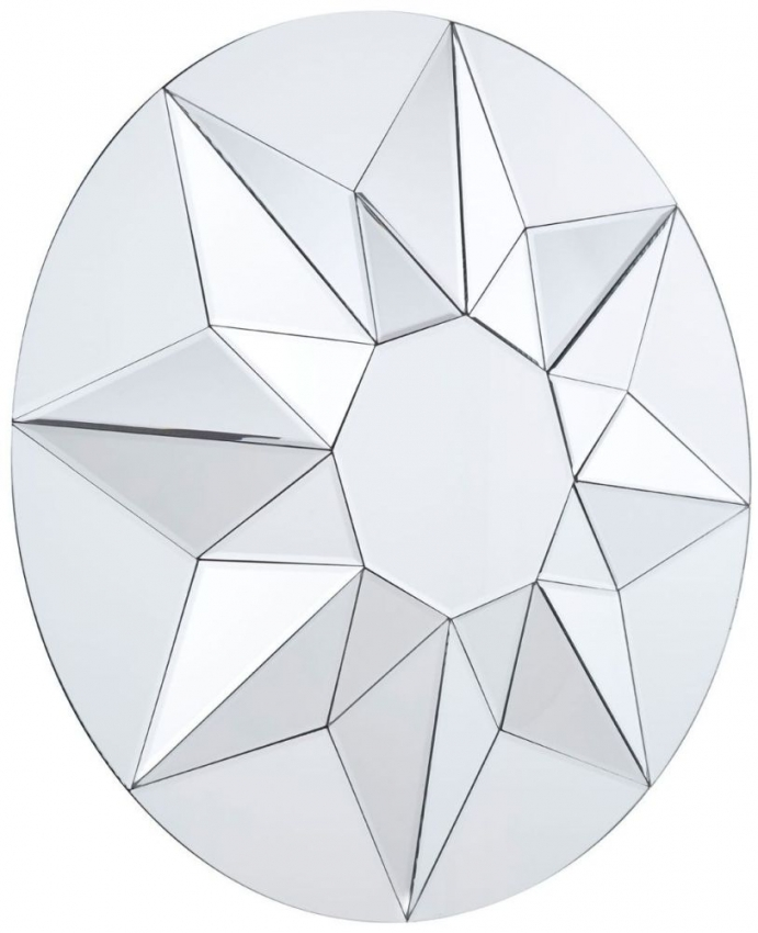 Wanda Glass Round Wall Mirror - 80cm x 80cm