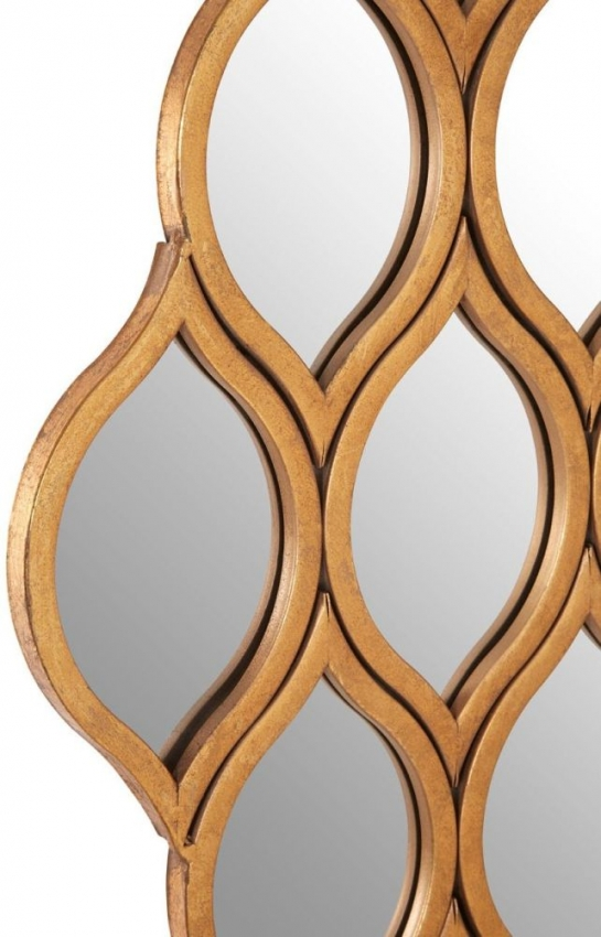 Zariah Gold Multi Diamond Shape Wall Mirror