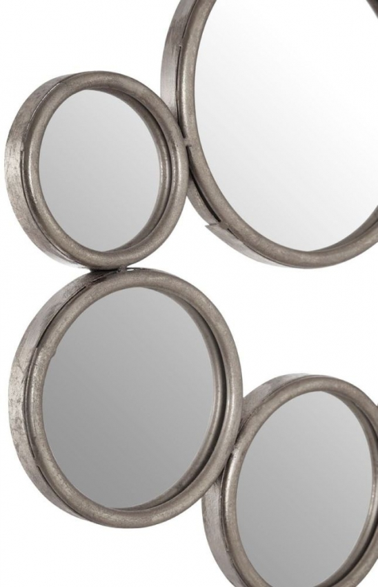 Zariah Silver Multi Small Circle Wall Mirror