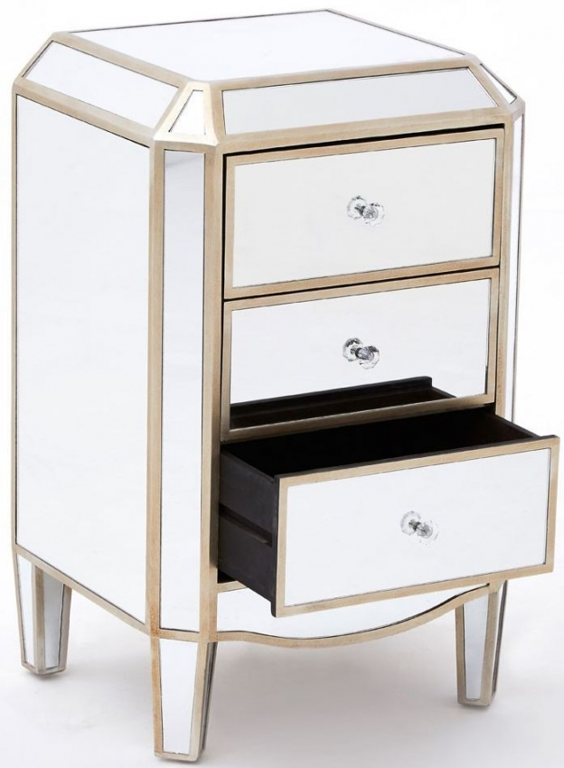 Tiffany Mirrored 3 Drawer Chest