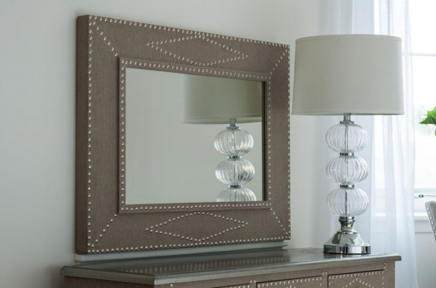Manhattan Natural Large Rectangular Wall Mirror