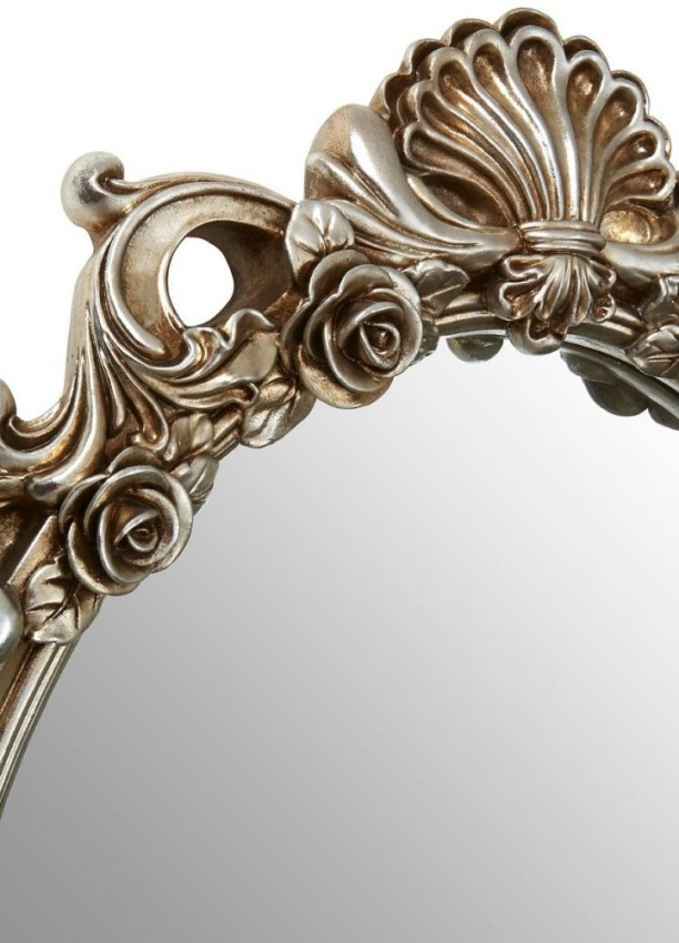Champagne Rose and Clam Oval Wall Mirror
