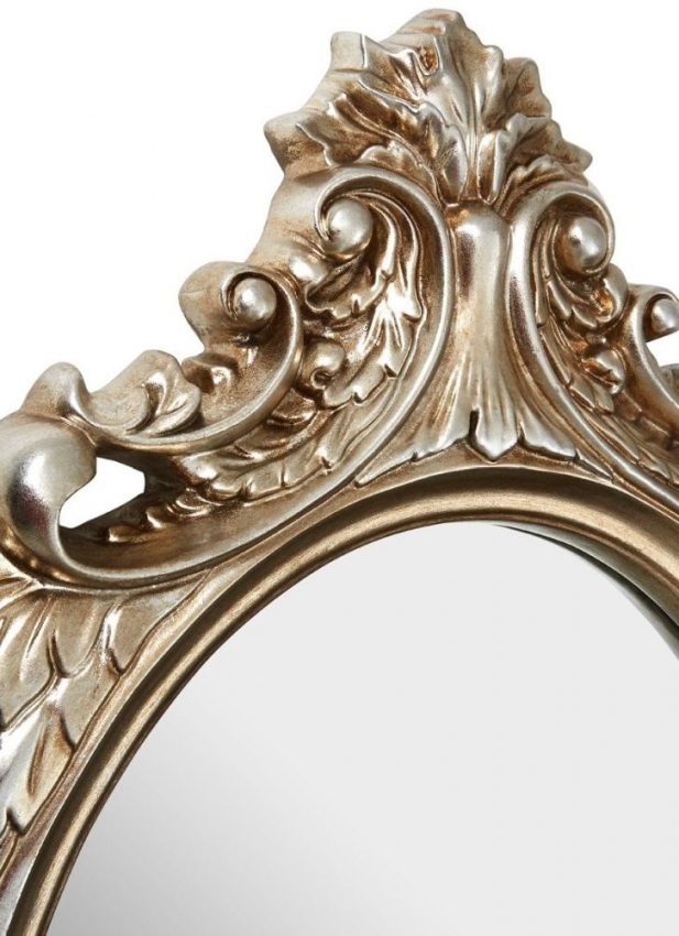 Champagne Garlanded Oval Wall Mirror