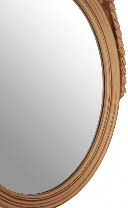 Gold Oval Acanthus Leaf Wall Mirror - 65cm x 103cm