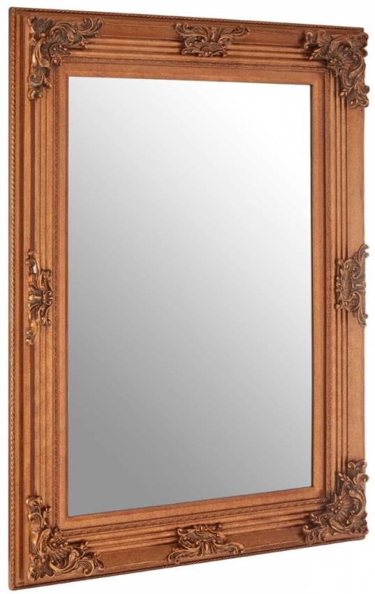 Baroque Gold Rectangular Wall Mirror