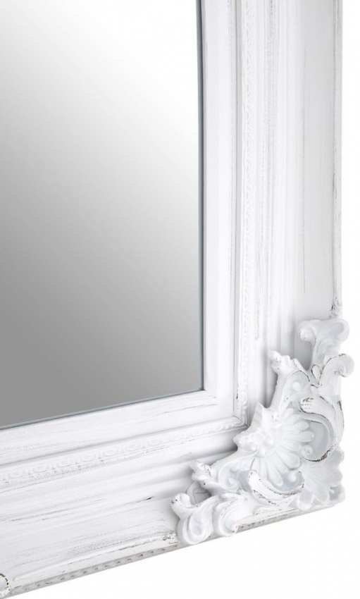 Baroque Antique White Rectangular Wall Mirror