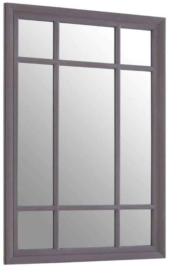 Hawthorne Rectangular Grey Wall Mirror