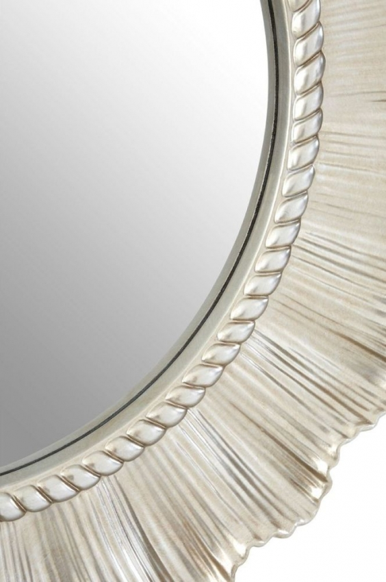 Champagne Flared Round Wall Mirror