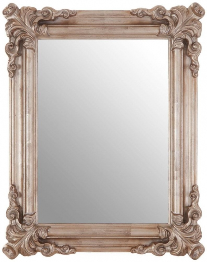 Georgia Pale Silver Rectangular Wall Mirror - 75cm x 95cm
