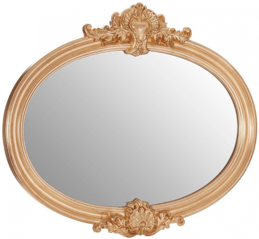 Giselle Gold Oval Wall Mirror - 87cm x 102cm