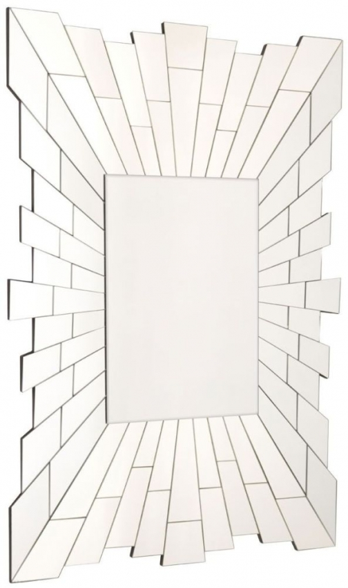 Glitzy Rectangular Wall Mirror