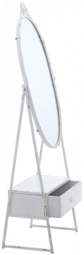 New York Loft White Cheval Mirror