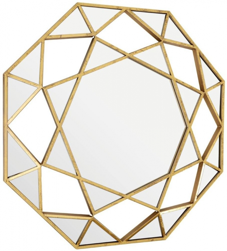 Marcia Gold Faceted Octagonal Wall Mirror