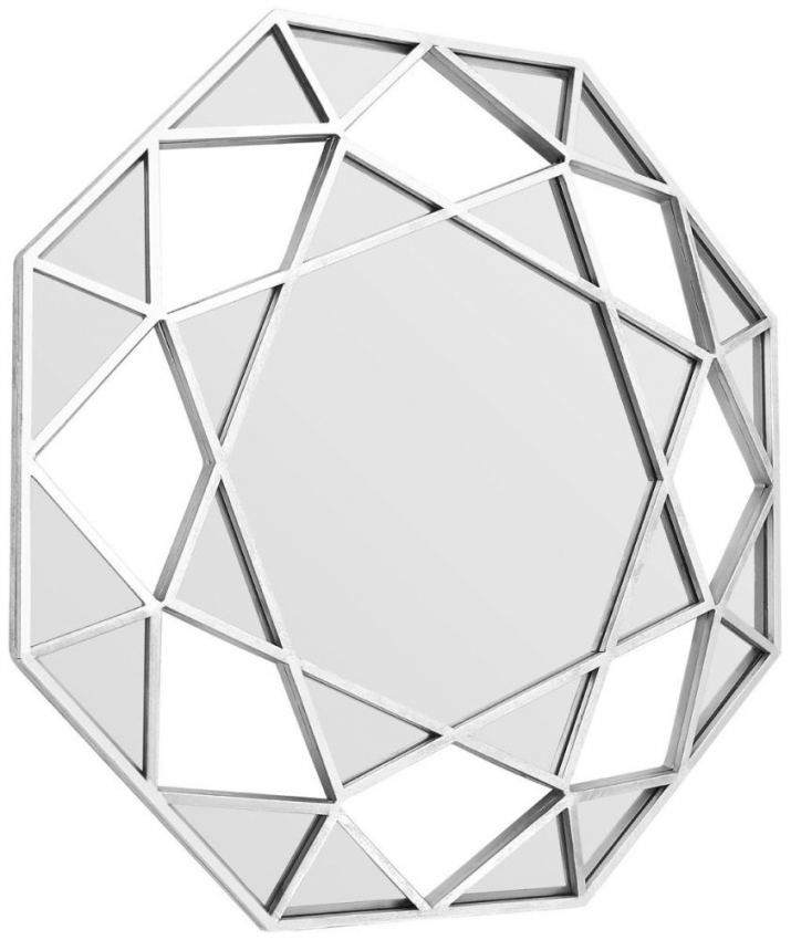 Marcia Silver Faceted Octagonal Wall Mirror