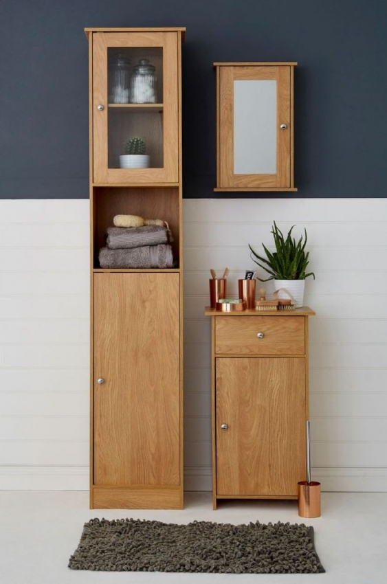 Portland Oak Bathroom Cupboard