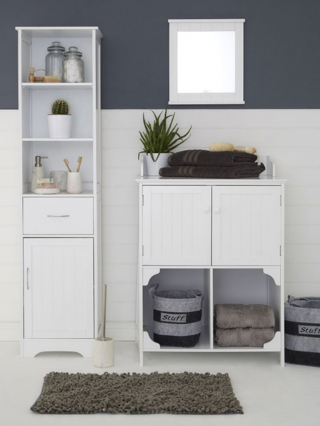 Portland White 2 Door Bathroom Cabinet