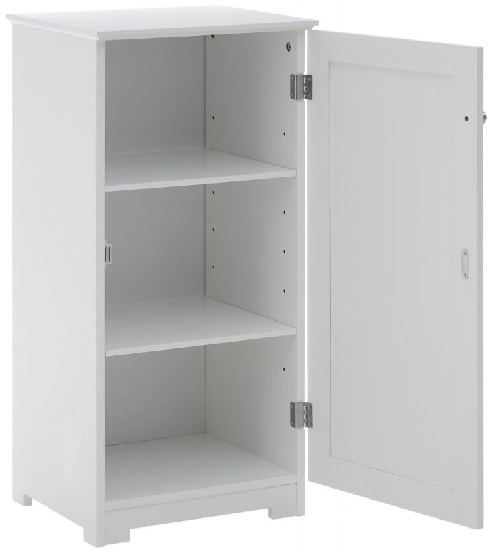 Portland White 1 Door Bathroom Cabinet