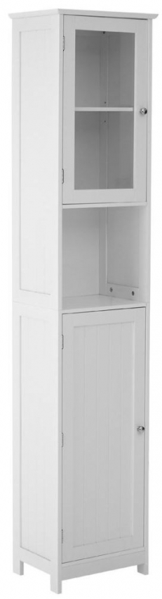 Portland White Floor Standing Tall Cabinet