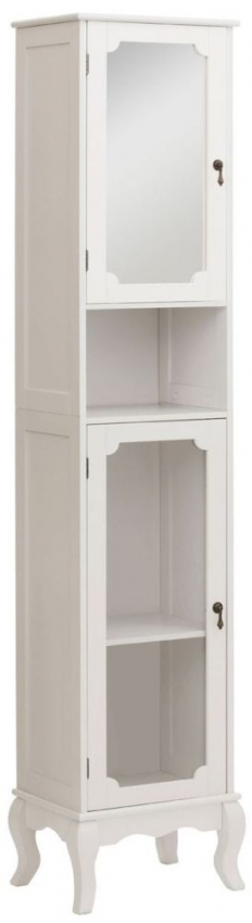 Marcella Ivory Tall Bathroom Cabinet