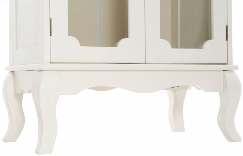 Marcella Ivory 2 Door Glass Bathroom Cabinet