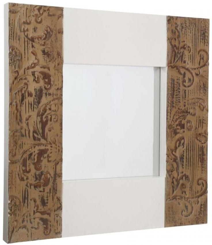 Bali Natural Square Wall Mirror