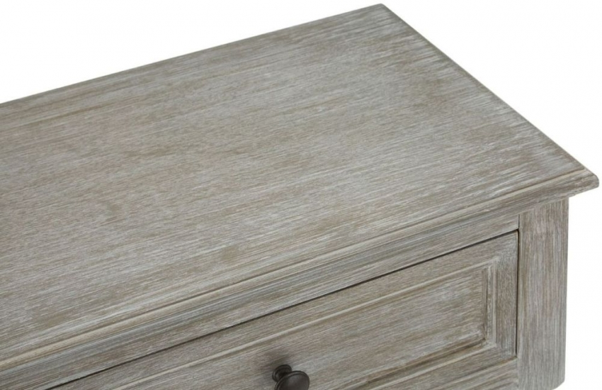 Heritage Slate Grey 2 Drawer Console Table