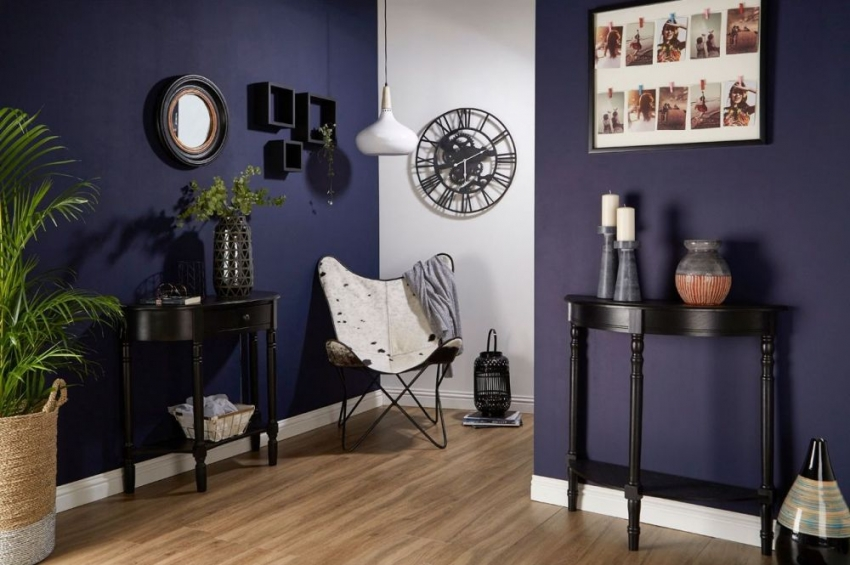 Heritage Matte Black Console Table