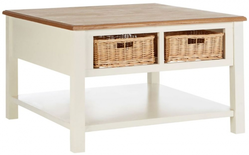 Dorset Cream 4 Basket Coffee Table