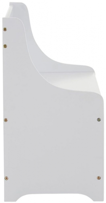 Kids White Storage Box with Seat