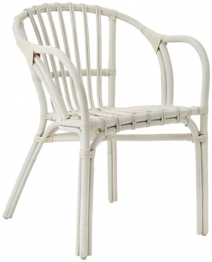 Havana White Rattan Low Armchair