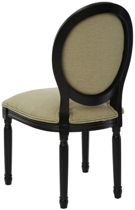 Francois Green Linen Fabric Bedroom Chair