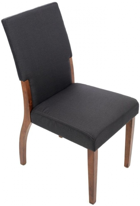 Charcoal Fabric Angled Dining Chair (Pair)