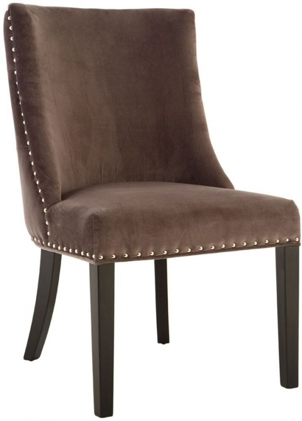 Grey Velvet Dining Chair (Pair)