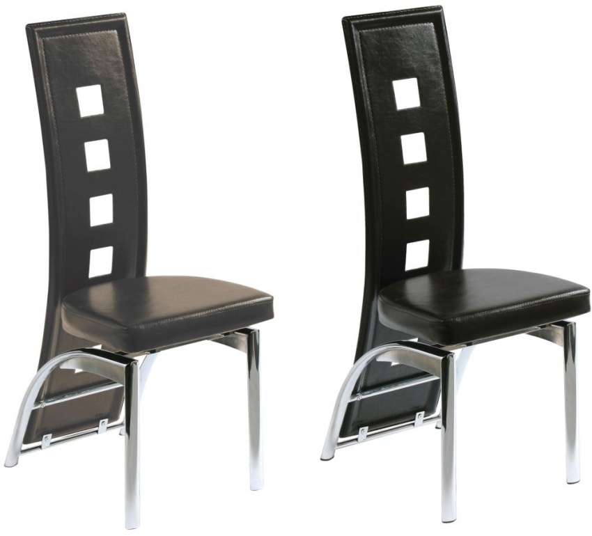 Cool Brown Faux Leather Dining Chair Set Of 4 Gamerscity Chair Design For Home Gamerscityorg