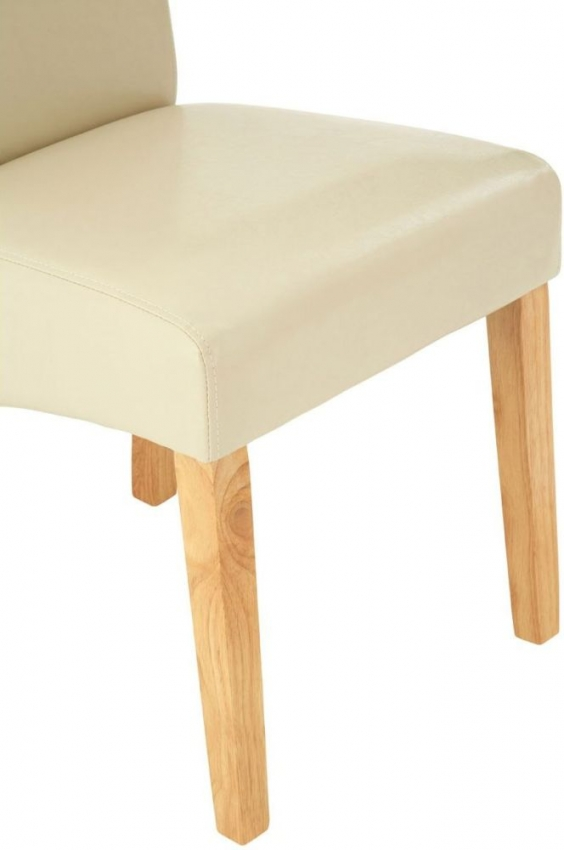 Hertford Cream Faux Leather Dining Chair (Pair)