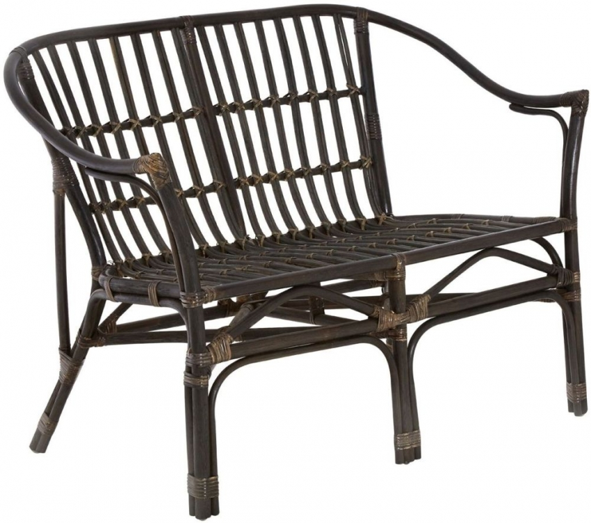 Milano Black Rattan Dining Set - 103cm