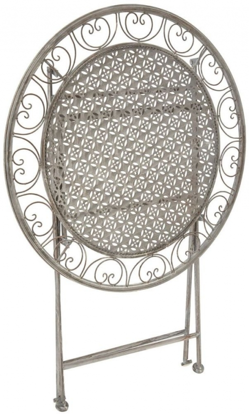 Finchwood Jardin Grey Round Dining Set with 2 Chairs - 70cm