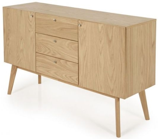 Clearance Half Price - Finchley Oak 2 Door 3 Drawer Large Sideboard - New - 601
